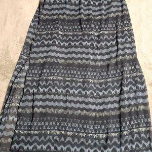Hollister maxi skirt with side slits sz LG